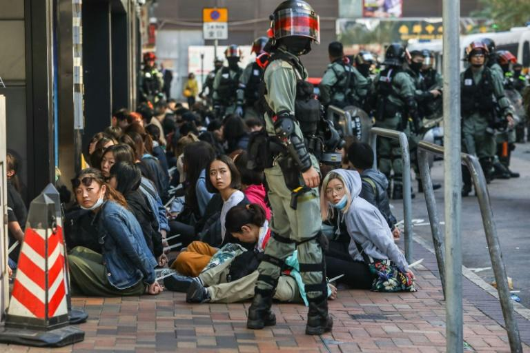 People are detained near the Polytechnic University standoff