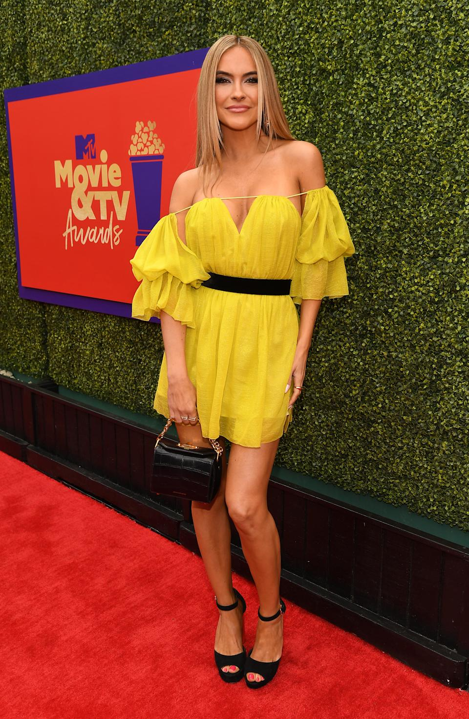 LOS ANGELES, CALIFORNIA - MAY 17: In this image released on May 17, Chrishell Stause attends the 2021 MTV Movie & TV Awards: UNSCRIPTED in Los Angeles, California. (Photo by Kevin Mazur/2021 MTV Movie and TV Awards/Getty Images for MTV/ViacomCBS)