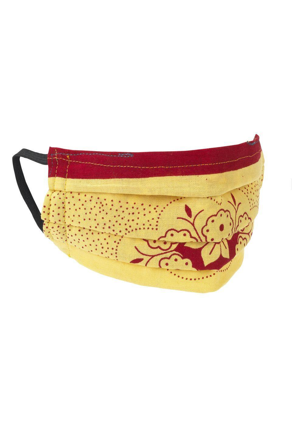 """<p><a class=""""link rapid-noclick-resp"""" href=""""https://sojustshop.com/products/yellow-and-red-non-medical-pleated-face-mask"""" rel=""""nofollow noopener"""" target=""""_blank"""" data-ylk=""""slk:SHOP NOW"""">SHOP NOW</a></p><p>So Just Shop is a sustainable lifestyle brand that curates ethically-made, environmentally-friendly accessories and homeware. Its face masks are each handmade from up-cycled fabric in either cotton or silk, with African prints or Indian sari fabric. No two are the same, so expect truly unique designs.</p><p>£14.99, <a href=""""https://sojustshop.com/products/yellow-and-red-non-medical-pleated-face-mask"""" rel=""""nofollow noopener"""" target=""""_blank"""" data-ylk=""""slk:So Just Shop"""" class=""""link rapid-noclick-resp"""">So Just Shop</a></p>"""