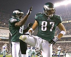 Celek shows off his pose after scoring against the Cowboys on Sunday night