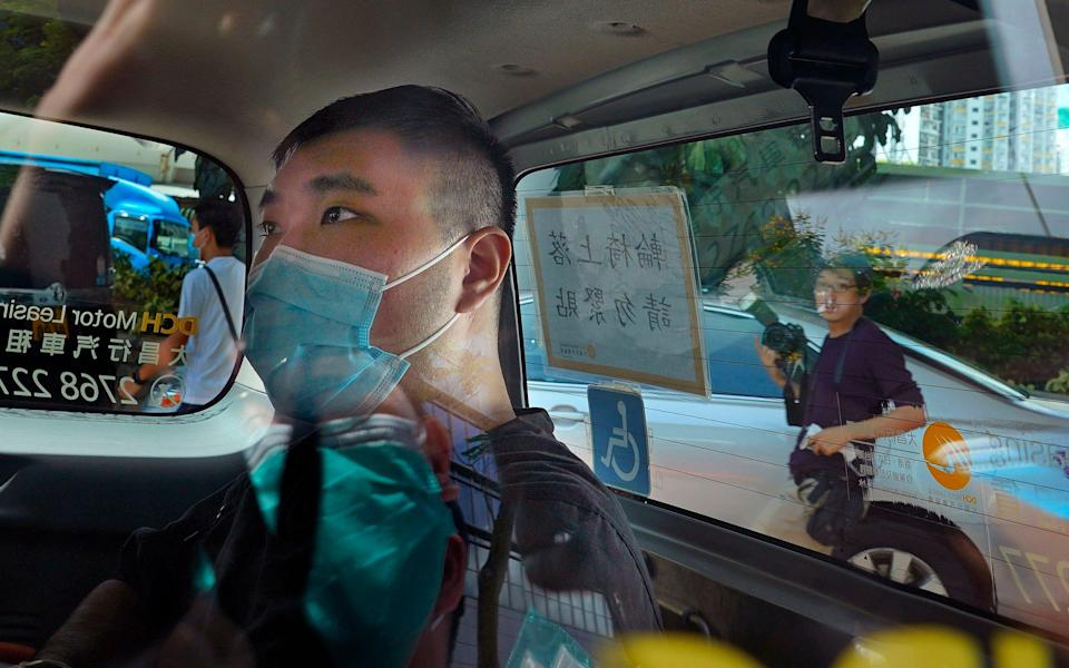 Tong Ying-kit pictured arriving at court in July 2020 - Vincent Yu /AP
