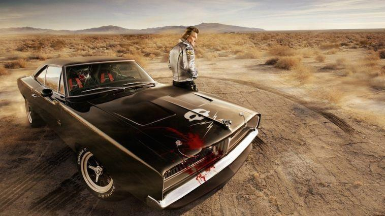 "<p>Kurt Russell is an all-American man, so of course he drives an all-American car in the movie <em>Death Proof.</em> The story of a stuntman who like to take unsuspecting women for rides in his free time, he's doctored his car to be ""death proof,"" but only for himself. The driver's seat is a proper racing seat with padding and a reinforced roof panel, while the passenger seat is a tractor seat with Plexiglas surrounding it. </p><p>There were four cars built for the movie, and the only fully caged one that ran good enough to do the driving scenes was appropriately named ""The Jesus."" Easter egg alert: The rubber-duck hood ornament is courtesy of Kris Kristofferson in <em>Convoy.</em> The other caged car, called ""The Prius,"" was destroyed during filming, which left ""The Jesus"" up for grabs, ultimately winding up in the hands of the true stunt driver's high school son for a cool $500.</p><p><a class=""link rapid-noclick-resp"" href=""https://www.amazon.com/gp/video/detail/0SGFKYT2BBY25U59Y8H4UJX6YO/?tag=syn-yahoo-20&ascsubtag=%5Bartid%7C10054.g.27421711%5Bsrc%7Cyahoo-us"" rel=""nofollow noopener"" target=""_blank"" data-ylk=""slk:AMAZON"">AMAZON</a></p>"