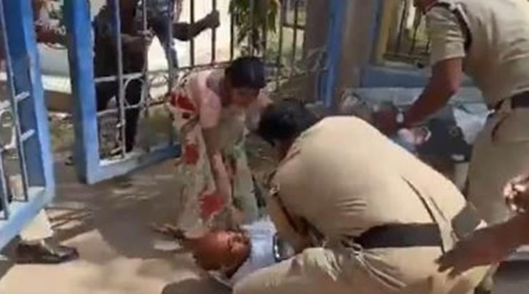 Telangana: Policeman thrashing father of deceased girl goes viral, SP assures 'suitable action'