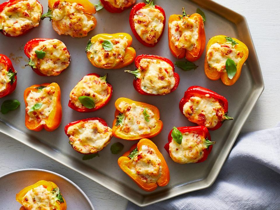 """<p><strong>Recipe: <a href=""""https://www.southernliving.com/recipes/pizza-pepper-poppers"""" rel=""""nofollow noopener"""" target=""""_blank"""" data-ylk=""""slk:Pizza Pepper Poppers"""" class=""""link rapid-noclick-resp"""">Pizza Pepper Poppers</a></strong></p> <p>Kids and adults will love this healthier but just as delicious take on the flavor of pizza. </p>"""