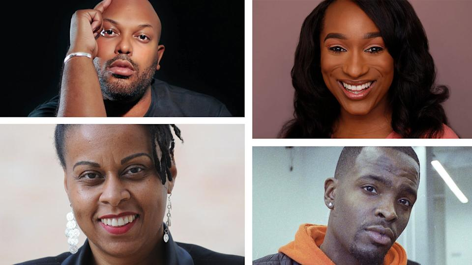 Is Black History Month still enough? Thought leaders weighed in, including, clockwise from top left: Ashton P. Woods, Elle Hearns, Azel Prather Jr. and Kali N. Gross. (Courtesy of subjects)