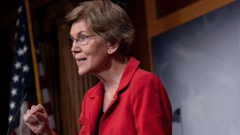 Massachusetts Sen. Elizabeth Warren is reportedly interested in becoming the new secretary of the Treasury Department should Democratic nominee Joe Biden win the presidency in next week's election. (Photo by Drew Angerer/Getty Images)