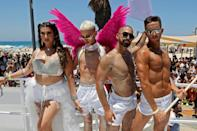 Thousands attended the Tel Aviv Pride parade on Friday