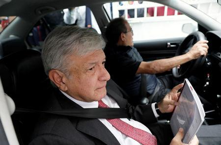 Mexico's President-elect Andres Manuel Lopez Obrador arrives to his campaign headquarters in Mexico City