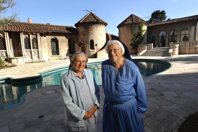 The late Sister Catherine Rose Holzman, left, with Sister Rita Callanan. (Photo: Getty Images)