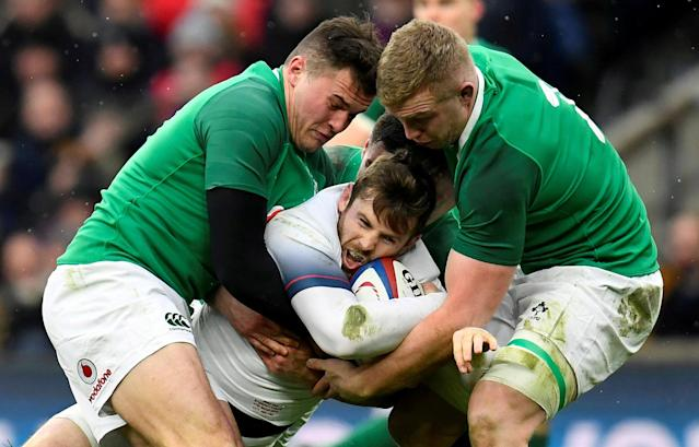 FILE PHOTO: Rugby Union - Six Nations Championship - England vs Ireland - Twickenham Stadium, London, Britain - March 17, 2018 England's Elliot Daly in action REUTERS/Toby Melville/File Photo