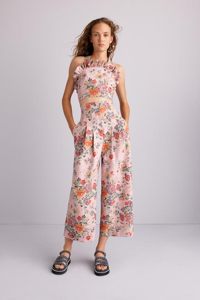 <p><i>A model in a floral jumpsuit. (Photo: ImaxTree) </i></p>