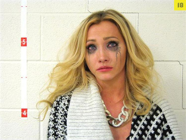 Arrested for drunk driving, failure to comply. The Smoking Gun photo