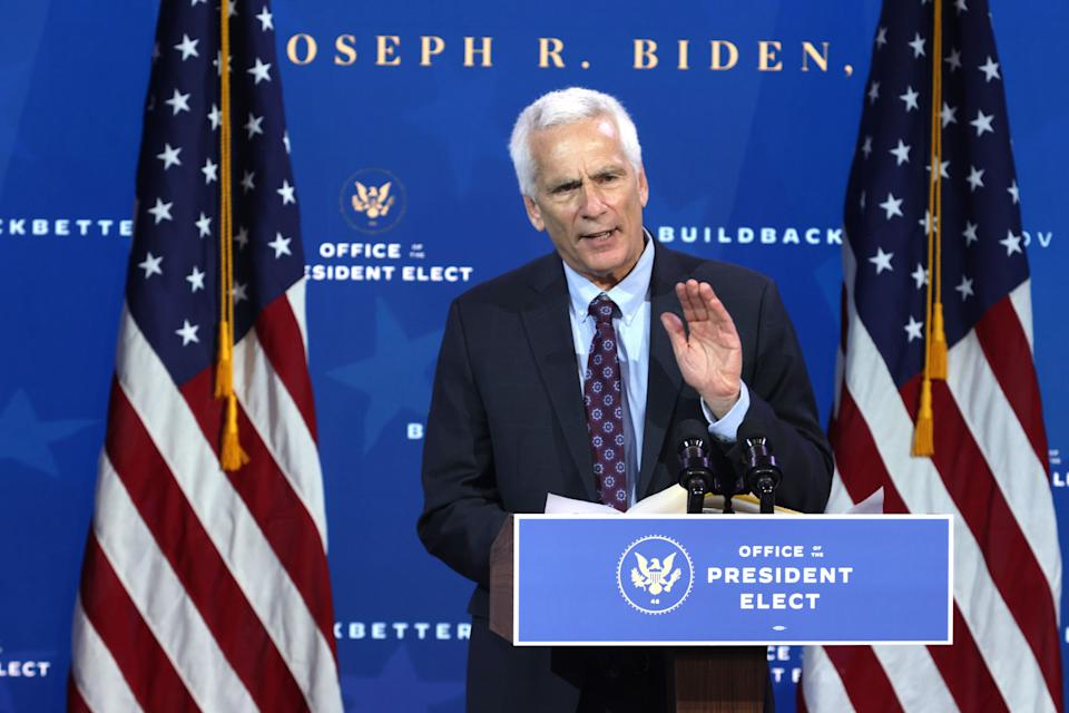 Bernstein speaks during an event to name Biden's economic team at The Queen Theater in Wilmington, Delaware, on Dec. 1. (Photo: Alex Wong via Getty Images)