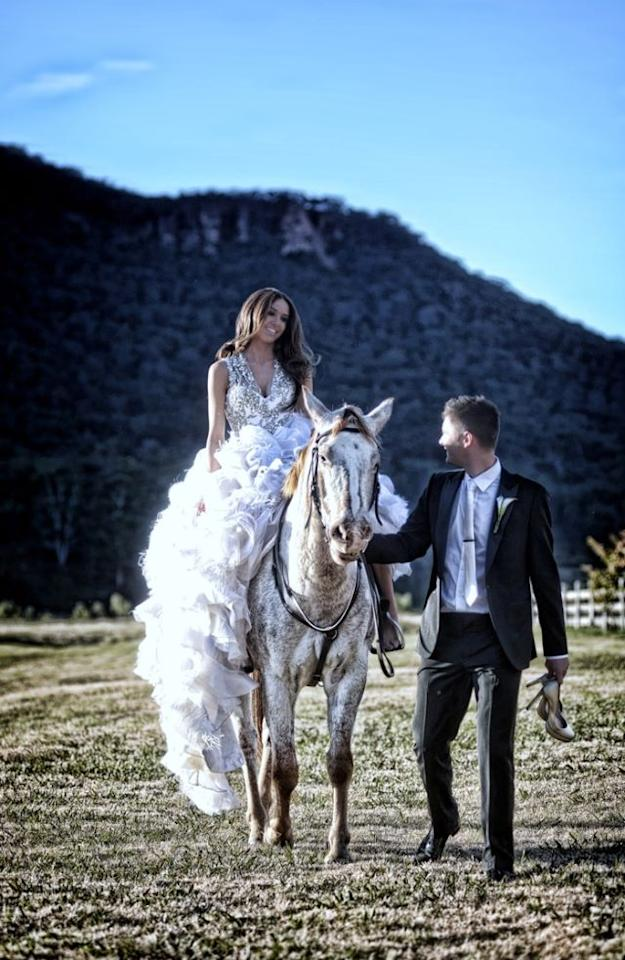 Michael Clarke and Kyly Boldy on their wedding day