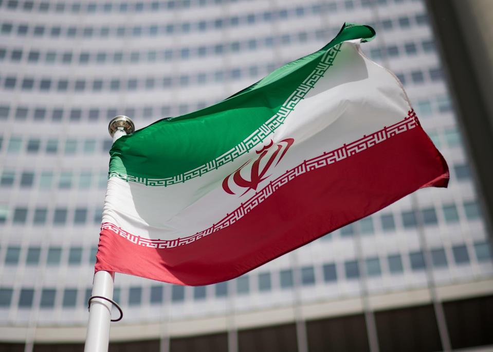 The flag of Iran at the International Atomic Energy Agency HQGetty Images
