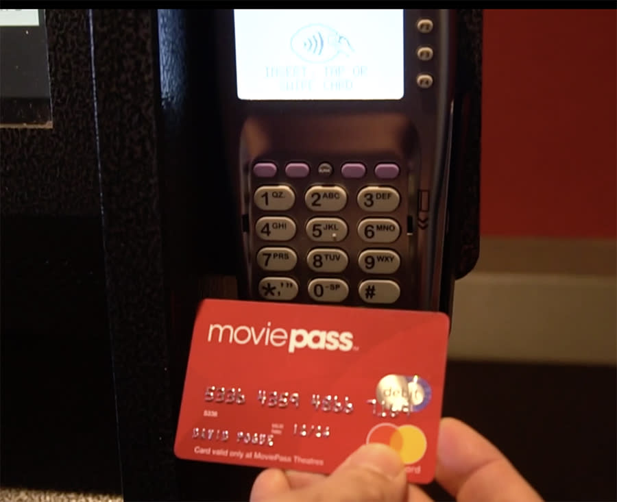 This card lets MoviePass buy your tickets for you.