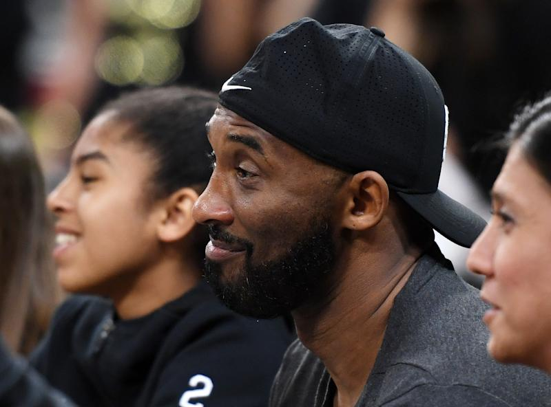 LAS VEGAS, NEVADA - MAY 26: Former NBA player Kobe Bryant attends a game between the Los Angeles Sparks and the Las Vegas Aces at the Mandalay Bay Events Center on May 26, 2019 in Las Vegas, Nevada. The Aces defeated the Sparks 83-70. NOTE TO USER: User expressly acknowledges and agrees that, by downloading and or using this photograph, User is consenting to the terms and conditions of the Getty Images License Agreement. (Photo by Ethan Miller/Getty Images )