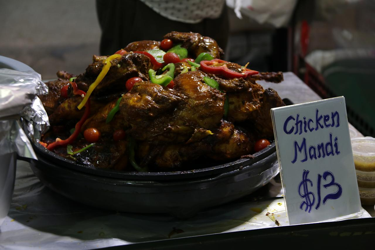 <p>Chicken mandi (tandoor-cooked chicken) from House of Mandi, stall 36; $13. (PHOTO: Abdul Rahman Azhari/Yahoo Lifestyle Singapore) </p>