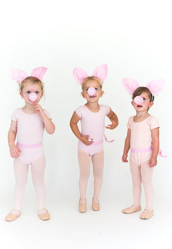 """<p>Whether you dress up your toddler to <a href=""""https://www.countryliving.com/diy-crafts/g21530121/diy-sister-halloween-costumes/"""" rel=""""nofollow noopener"""" target=""""_blank"""" data-ylk=""""slk:match her sisters"""" class=""""link rapid-noclick-resp"""">match her sisters</a> or her <a href=""""https://www.countryliving.com/diy-crafts/g21349110/best-friend-halloween-costumes/"""" rel=""""nofollow noopener"""" target=""""_blank"""" data-ylk=""""slk:best friends"""" class=""""link rapid-noclick-resp"""">best friends</a> from daycare, three little pigs never looked so darn cute!</p><p><strong>Get the tutorial at <a href=""""http://sayyes.com/2016/09/three-little-pigs-halloween-costume"""" rel=""""nofollow noopener"""" target=""""_blank"""" data-ylk=""""slk:Say Yes"""" class=""""link rapid-noclick-resp"""">Say Yes</a>.</strong></p><p><strong><a class=""""link rapid-noclick-resp"""" href=""""https://www.amazon.com/Capezio-Daisy-Ballet-Toddler-Little/dp/B0002USBT0/?tag=syn-yahoo-20&ascsubtag=%5Bartid%7C10050.g.4975%5Bsrc%7Cyahoo-us"""" rel=""""nofollow noopener"""" target=""""_blank"""" data-ylk=""""slk:SHOP PINK LEOTARDS"""">SHOP PINK LEOTARDS</a></strong></p>"""