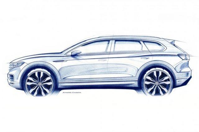 New 2018 Volkswagen Touareg SUV teased ahead of reveal