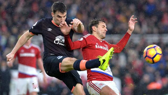 <p>Current Republic of Ireland captain Seamus Coleman has been an Everton regular since his £60k transfer from Sligo Rovers in 2008 - a frankly incredible bargain.</p> <br><p>Coleman remains of the Premier League's most dangerous attacking full backs and has scored 18 goals in eight seasons at Goodison Park.</p>