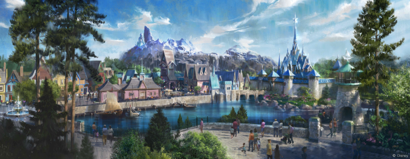 "Disneyland Paris released this artist rendering of plans for a ""Frozen"" land. (Photo: Disney via Twitter)"