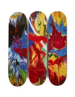 The only complete archive of Supreme skate decks in private hands sold for $800,000 at Sotheby's. The archive comprises all 248 decks produced by the iconic streetwear brand over 20 years, and features collaborations with an impressive number of contemporary artists and artist estates, including Damien Hirst.