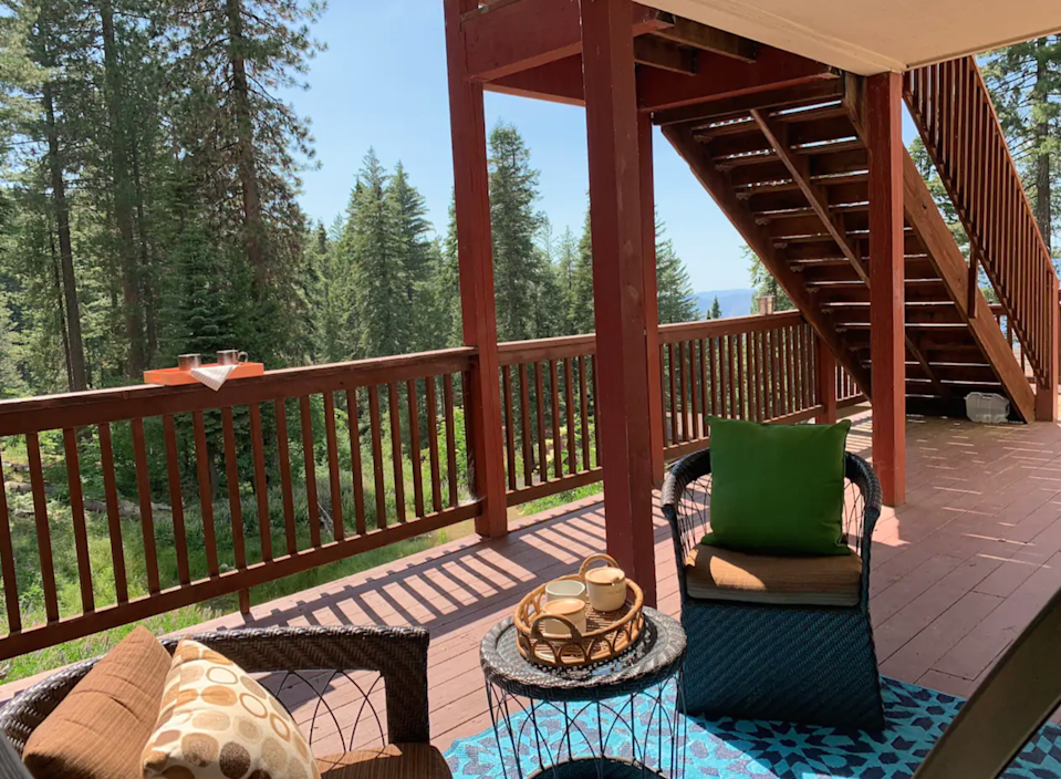 """<h2>Yosemite National Park, California</h2><br><strong>Location:</strong> Yosemite National Park, California<br><strong>Sleeps: </strong>3<br><strong>Price Per Night: </strong><a href=""""https://airbnb.pvxt.net/0JG3dE"""" rel=""""nofollow noopener"""" target=""""_blank"""" data-ylk=""""slk:$344"""" class=""""link rapid-noclick-resp"""">$344</a><br><br>""""Stay in the park. No day-use reservation needed! You've found the closest place to all the main Yosemite attractions! Skip the longer drive, slow traffic and gate waits. Enjoy your Yosemite West cozy studio with attached kitchenette and private full bathroom. Feel the morning chill of the mountains — relax outside in your own sitting area and the breakfast is on us!""""<br><br><h3><a href=""""https://airbnb.pvxt.net/0JG3dE"""" rel=""""nofollow noopener"""" target=""""_blank"""" data-ylk=""""slk:Book Yobee In The Heart Of Yosemite"""" class=""""link rapid-noclick-resp"""">Book Yobee In The Heart Of Yosemite</a></h3><span class=""""copyright"""">Photo: Courtesy of Airbnb.</span>"""
