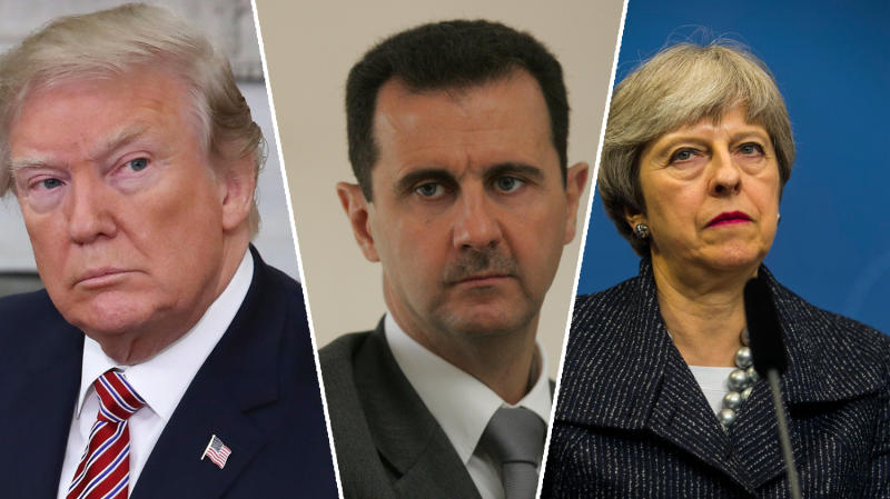 May and Trump agree use of chemical weapons must not go unchallenged