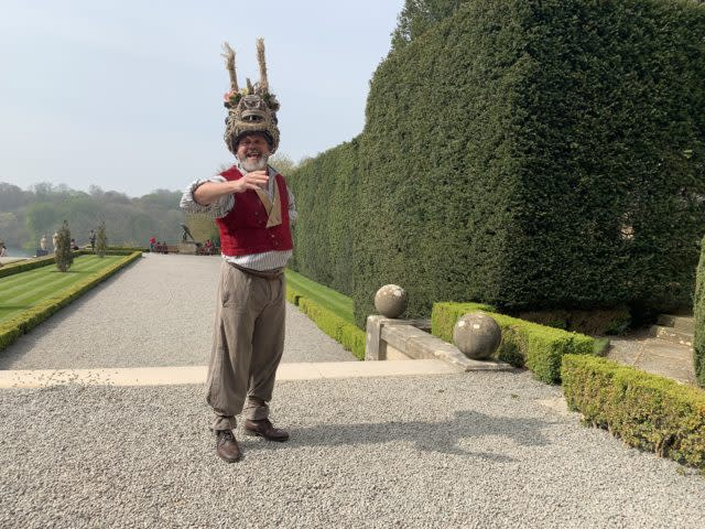 Paul Hawkyard as Bottom in A MIdsummer Night's Dream on the palace grounds (Emma Bowden/PA)