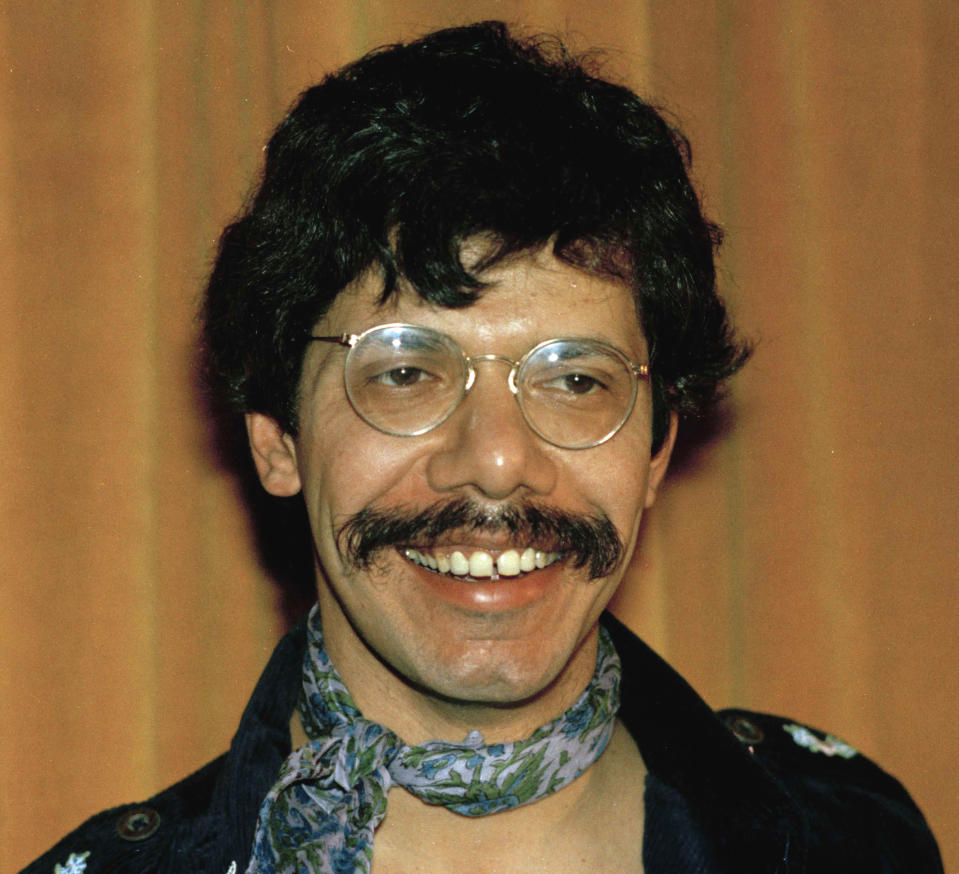 FILE - Jazz Pianist Chick Corea is shown in this Jan. 15, 1975 photo. Corea, a towering jazz pianist with a staggering 23 Grammy awards who pushed the boundaries of the genre and worked alongside Miles Davis and Herbie Hancock, has died. He was 79. Corea died Tuesday, Feb. 9, 2021, of a rare for of cancer, his team posted on his web site. His death was confirmed by Corea's web and marketing manager, Dan Muse. (AP Photo, File)