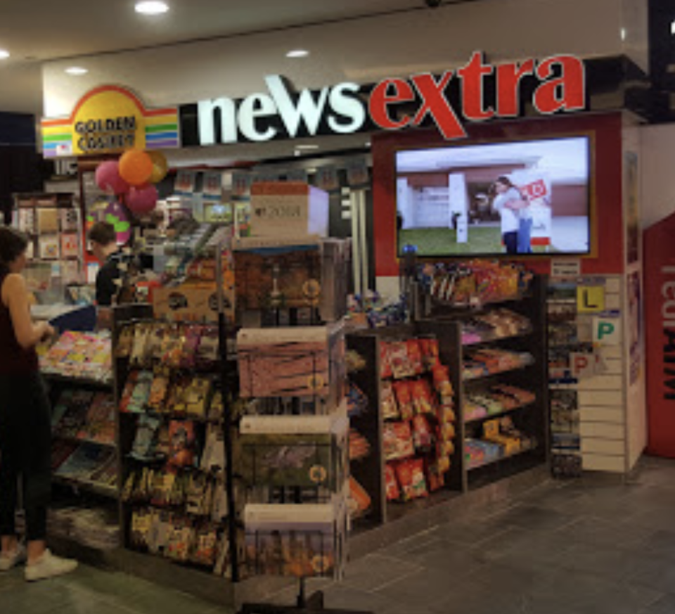 Photo shows News Extra inside the Chermside Westfield shopping centre.
