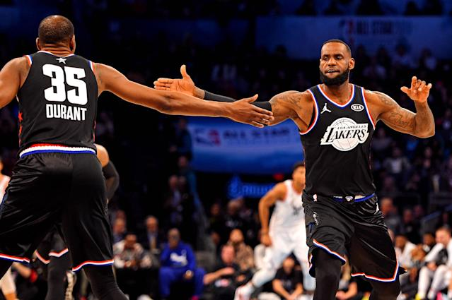 LeBron James and Kevin Durant are first-ballot Hall of Famers already. (Reuters)