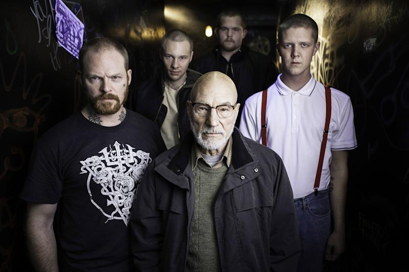 Patrick Stewart gets his bad guy on in 'Green Room' (Photo: Scott Patrick Green/ © A24 /courtesy Everett Collection)