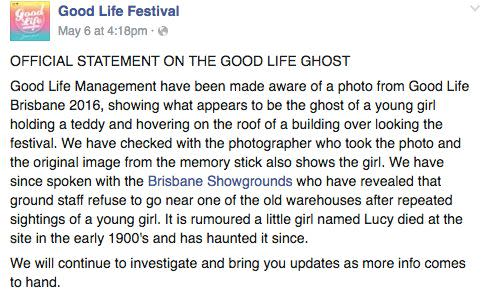 Goodlife Festival management released a statement on their Facebook page.