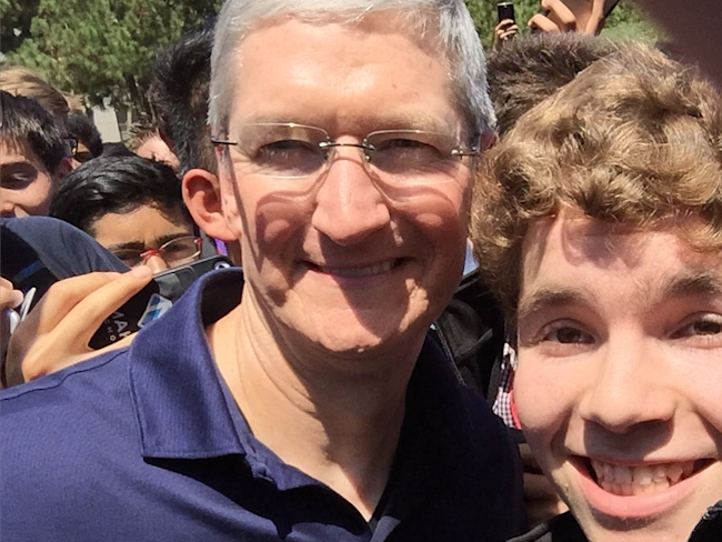Tim Cook and Michael Royzen