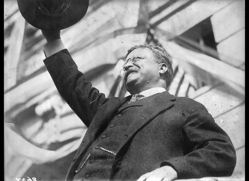 Former President Theodore Roosevelt champions national health insurance as he unsuccessfully tries to ride his progressive Bull Moose Party back to the White House.