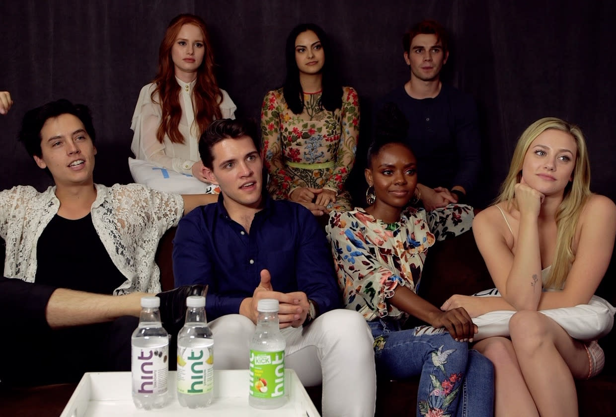 The cast ofRiverdale is clearly very comfortable putting their hands on each other. (Hey, if you looked like them, wouldn't you be, too?) It was a touchy-feely love fest when the stars of The CW's teen soap dropped by TVLine's Comic-Con interview suite: Cole Sprouse (Jughead) and Lili Reinhart (Betty) stroked each other's arms from […]