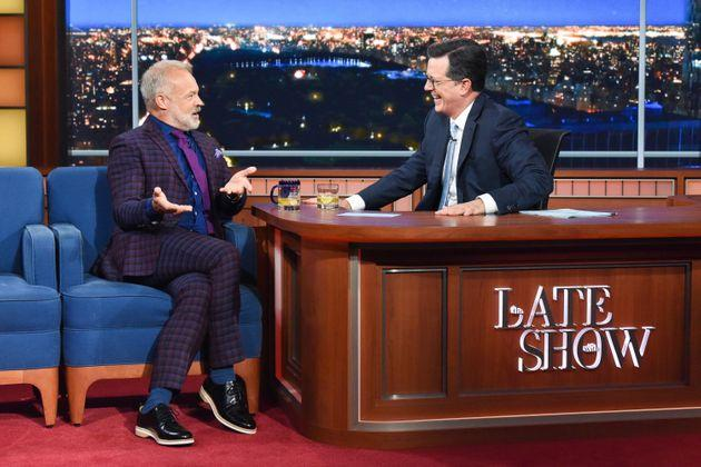 The Late Show with Stephen Colbert and guest Graham Norton.