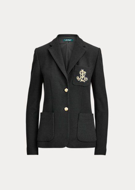 "<p><strong>Lauren Ralph Lauren</strong></p><p>ralphlauren.com</p><p><strong>$195.00</strong></p><p><a href=""https://go.redirectingat.com?id=74968X1596630&url=https%3A%2F%2Fwww.ralphlauren.com%2Fwomen-clothing-blazers%2Fpatch-jacquard-blazer%2F519697.html%3Fdwvar519697_colorname%3DPolo%2BBlack&sref=https%3A%2F%2Fwww.marieclaire.com%2Ffashion%2Fg34962433%2Fbest-fitted-blazers%2F"" rel=""nofollow noopener"" target=""_blank"" data-ylk=""slk:Shop It"" class=""link rapid-noclick-resp"">Shop It</a></p><p>A preppy monogrammed crest gives this blazer a bit of added oomph. Wear it accessorized with a silk neck tie for a super classic take.</p>"