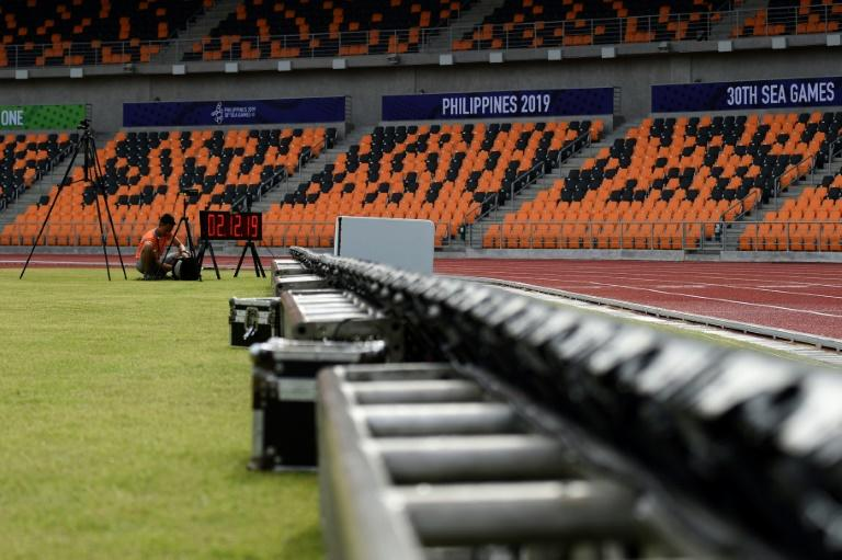 There was no talk of cancelling the Southeast Asian Games as Typhoon Kammuri headed for the Philippines