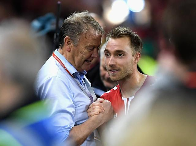 Denmark manager thanks Republic of Ireland 'very much' for giving Christian Eriksen so much space