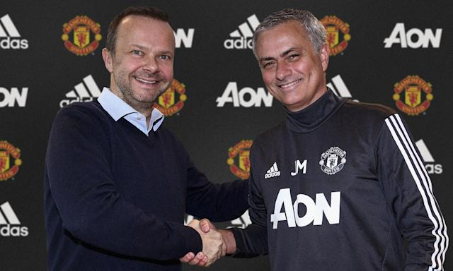 Woodward (left) has been criticised by Mourinho for United's transfer business this summer