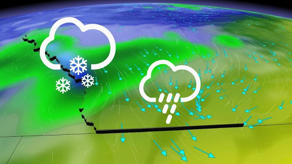 Cooler temperatures shift eastward ahead of much-needed rainfall on the Prairies