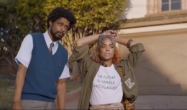 Lakeith Stanfield and Tessa Thompson star in <em>Sorry to Bother You. </em>(Photo courtesy of Sundance Institute)