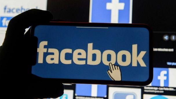 PHOTO: The Facebook logo is displayed on a mobile phone in this picture illustration taken Dec. 2, 2019. (Johanna Geron/Reuters, FILE)