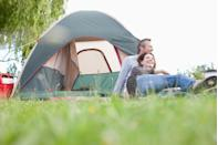 <p>Grab some blankets, your drinks of choice, and a few snacks. Then settle into your backyard or a nearby campsite for a bit so you can talk—and cuddle up—under the stars. </p>