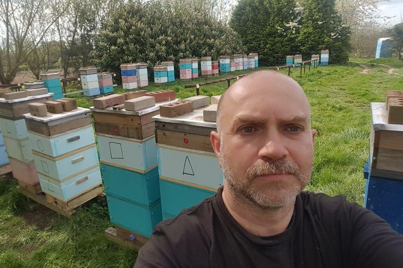 Mariusz Chudy, who has been a beekeeper for more than 30 years, said he was heartbroken when he discovered the scene at one of his sites in Kinoulton, Rushcliffe.