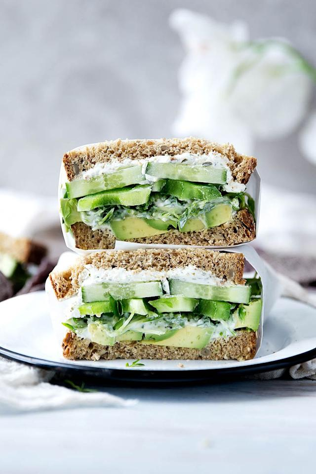 "<p>This easy-to-make sandwich is full of greens, from avocados to alfalfa. You might as well get your kids hooked on the good stuff early, right?</p><p><strong><a rel=""nofollow"" href=""https://bromabakery.com/2016/06/green-thumb-sandwich-recipe.html?crlt.pid=camp.jtsi1hZMqqUq"">Get the recipe at Broma Bakery.</a></strong></p>"