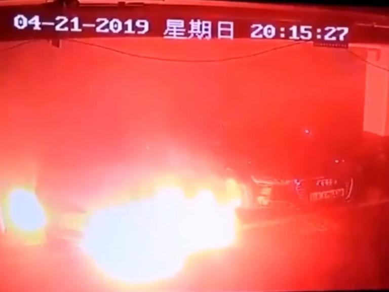 Tesla bursts into flames, prompting investigation by electric car firm